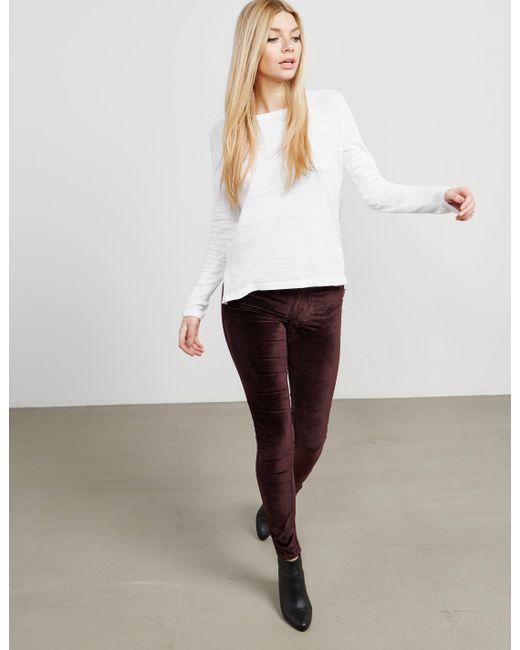 Rag & Bone - Theo Long Sleeve T-shirt White - Lyst