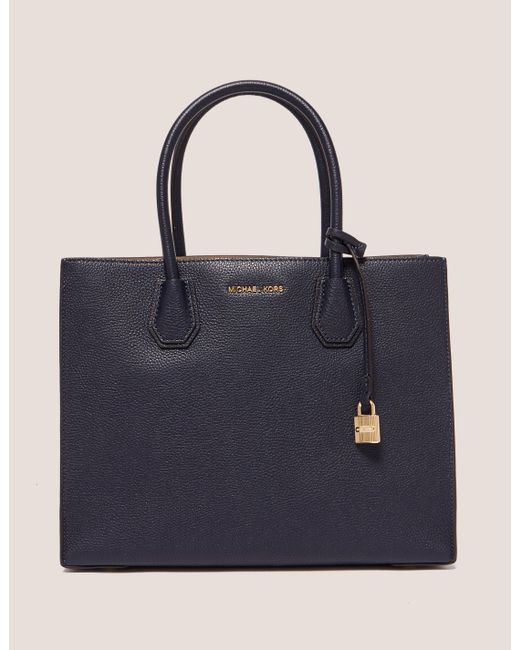 d15b80185a98 Michael Kors Mercer Large Convertible Tote Bag Navy Blue in Blue - Lyst