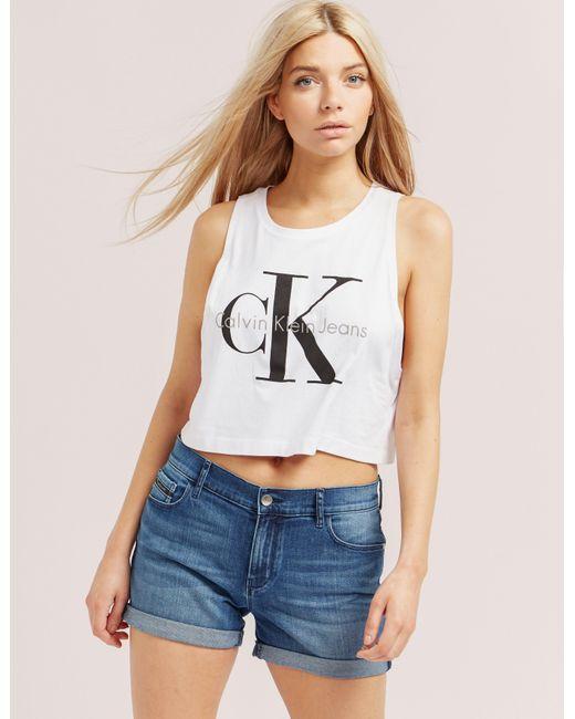 Calvin Klein | White Tendal Crop Top | Lyst