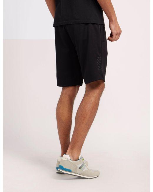 cf4fe76c ... BOSS - Mens Green Headlo Shorts Black for Men - Lyst ...