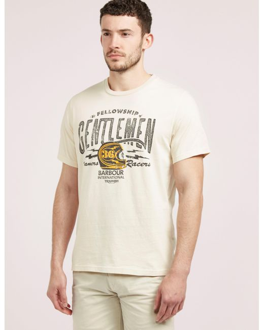 Barbour | Natural International Triumph Short Sleeve T-shirt for Men | Lyst