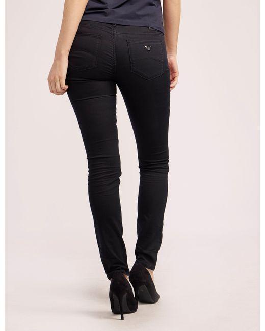 Armani Jeans   Black J28 Mid Waist Jean   Lyst