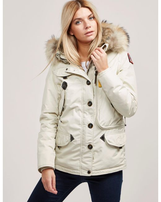 Parajumpers - Womens Doris Padded Parka Jacket White - Lyst ...