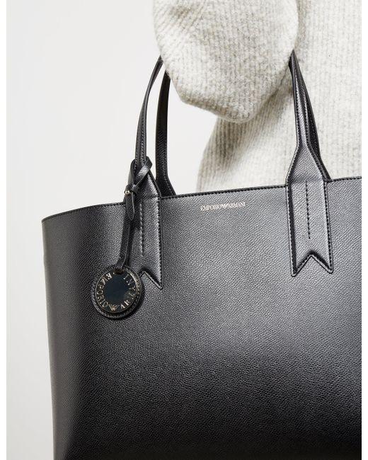 ... Emporio Armani - Borsa Large Shopper Bag Black - Lyst ... 9eb7749748091