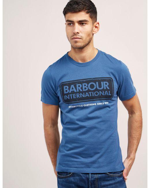 Barbour | Blue International Logo Short Sleeve T-shirt for Men | Lyst