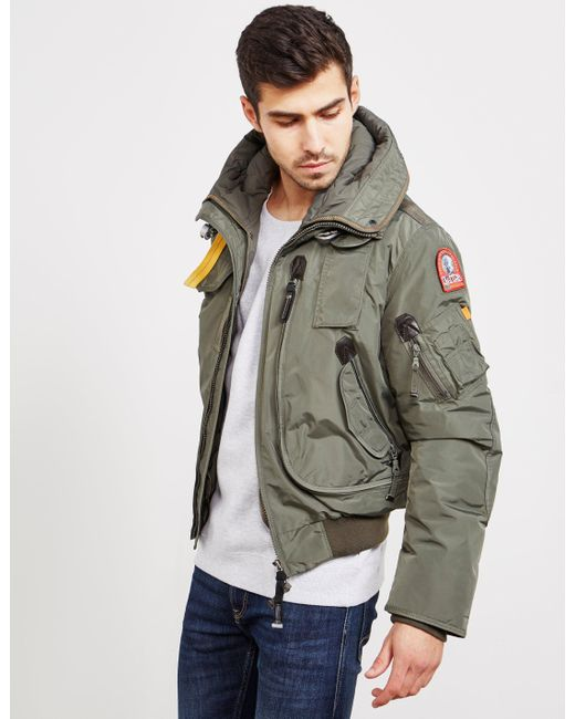 642a2fd35e4b ... wholesale parajumpers mens gobi padded bomber jacket green for men lyst  e92be eac1e