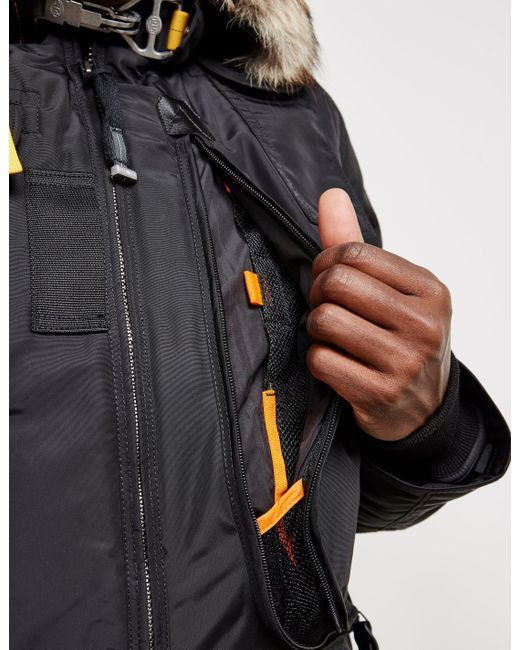 ... Parajumpers - Mens Gobi Padded Bomber Jacket Black for Men - Lyst ...