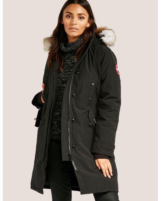 ... norway canada goose womens kensington padded parka jacket black lyst  dfe14 87cbe ... 1616fe8b5