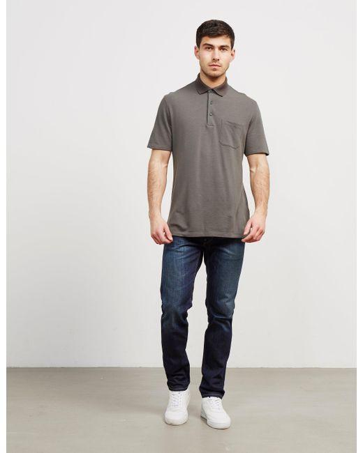 Z Zegna - Mens Pocket Short Sleeve Polo Shirt Green for Men - Lyst