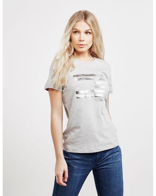 7748f814f84b Tommy Hilfiger - Gray Icon Tess Short Sleeve T-shirt Grey - Lyst ...