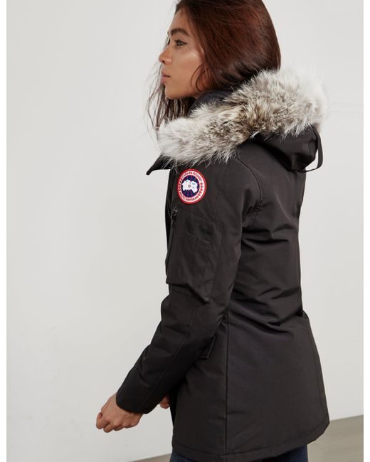 d334a33be3f ... sweden canada goose womens montebello padded parka jacket black lyst  054a8 74844