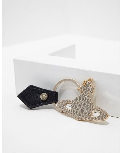 Vivienne Westwood - Metallic Womens Hammered Orb Keyring Gold - Lyst