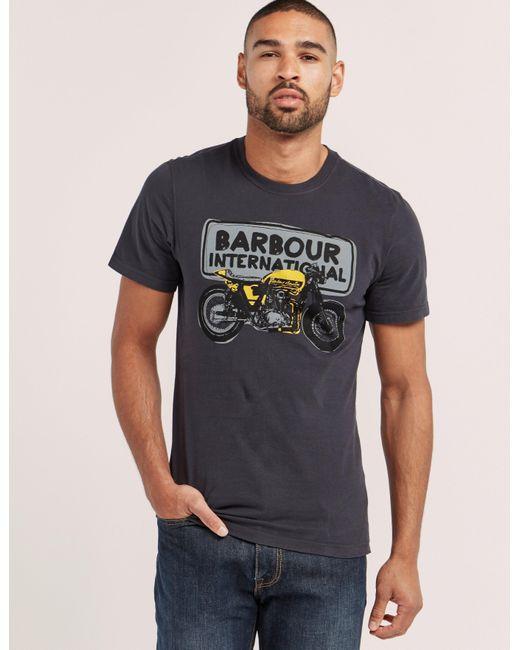 Barbour   Blue International Biker T-shirt for Men   Lyst