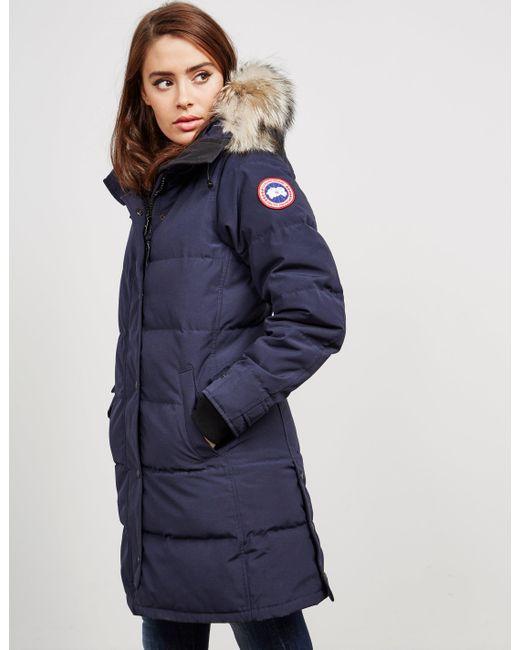Canada Goose - Womens Shelburne Padded Parka Jacket Blue - Lyst ...