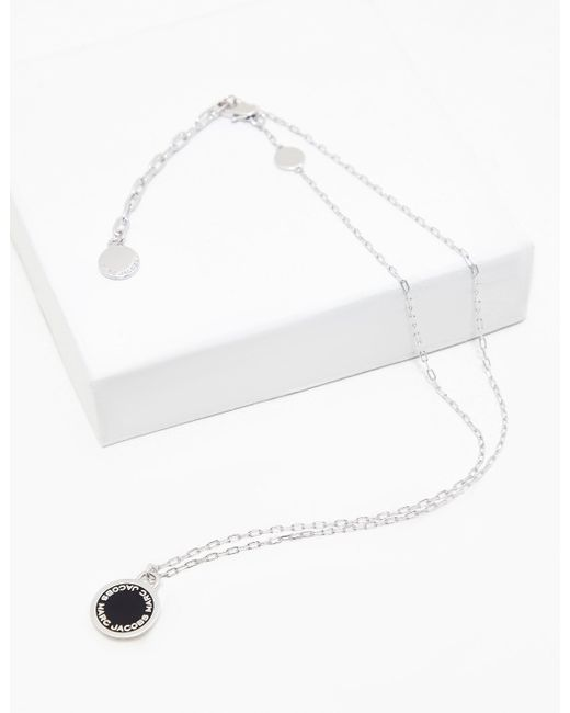 Marc Jacobs - Metallic Womens Logo Disc Necklace Silver - Lyst
