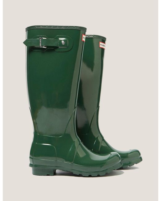 Hunter - Womens Tall Gloss Boot - Online Exclusive Green - Lyst