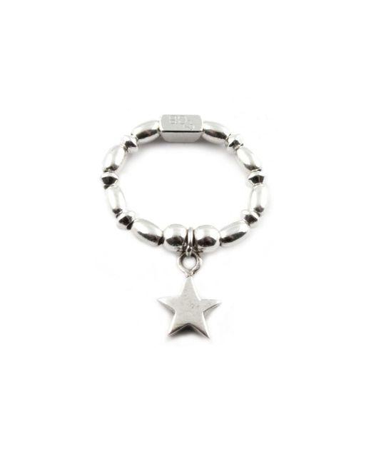 ChloBo - Metallic Rice & Disc Ring With Star Charm - Lyst
