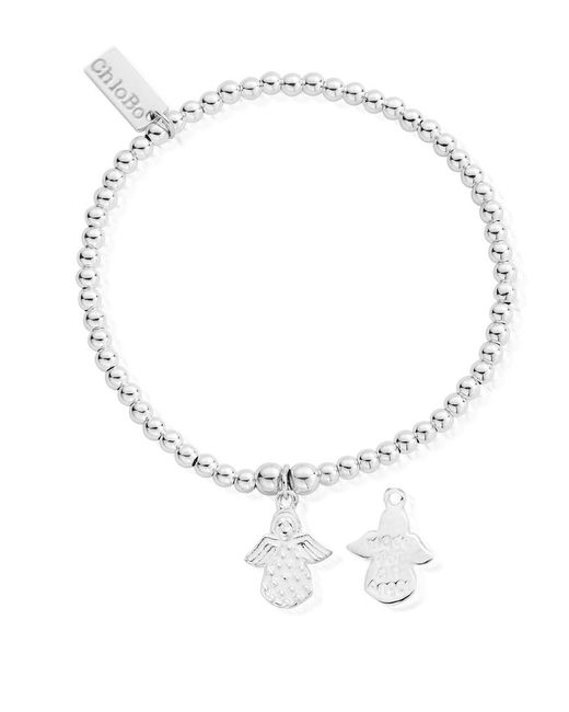 ChloBo - Metallic Cute Charm Made For An Angel Bracelet - Lyst