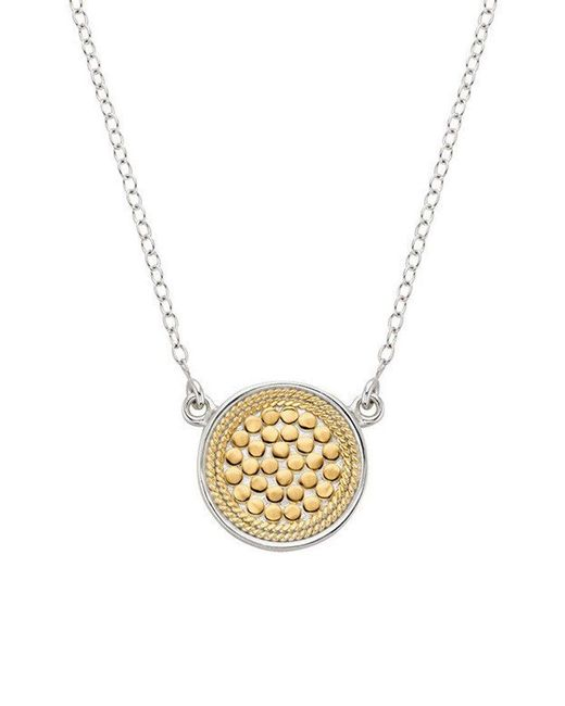 Anna Beck - Metallic Reversible Disc Necklace - Lyst