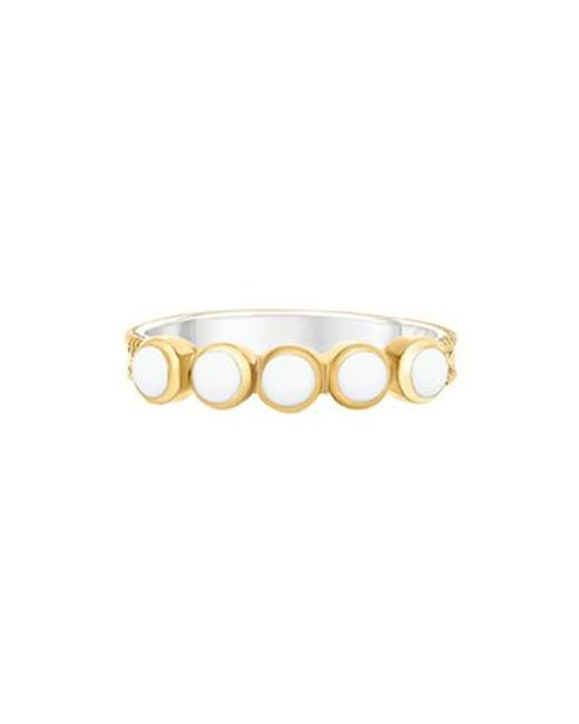 Anna Beck - Metallic Clarity White Agate Multi Stone Ring - Lyst