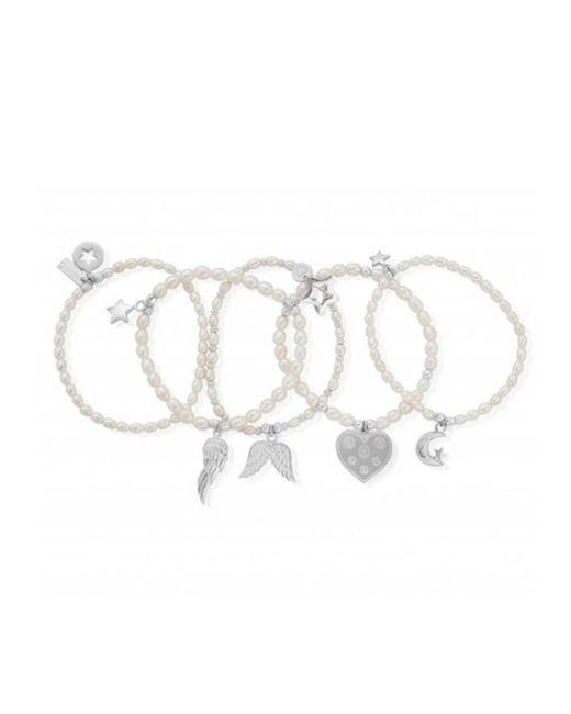 ChloBo - Metallic Pearl Set Of 5 Star Bracelets - Lyst