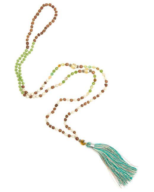 TRIBE + FABLE | Metallic Single Tassel Necklace | Lyst