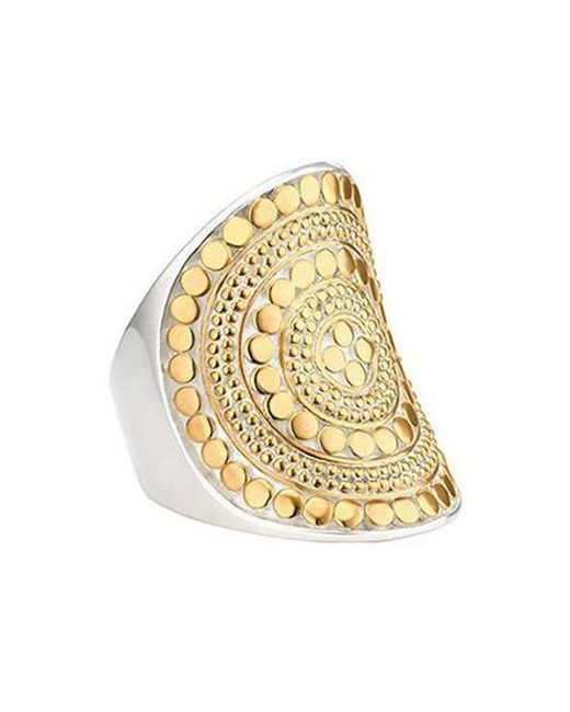 Anna Beck | Metallic Beaded Saddle Ring | Lyst