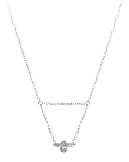 Olivia Burton - Metallic Queen Bee Drop Necklace - Lyst