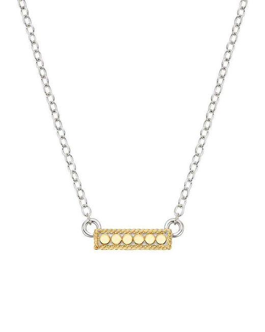 Anna Beck - Metallic Mini Bar Reversible Necklace - Lyst