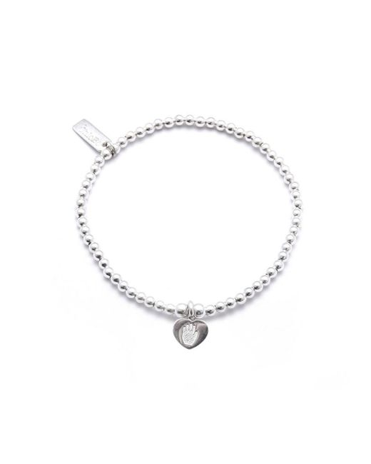 ChloBo - Metallic Cute Charm Bracelet With Hand On Heart Charm - Lyst