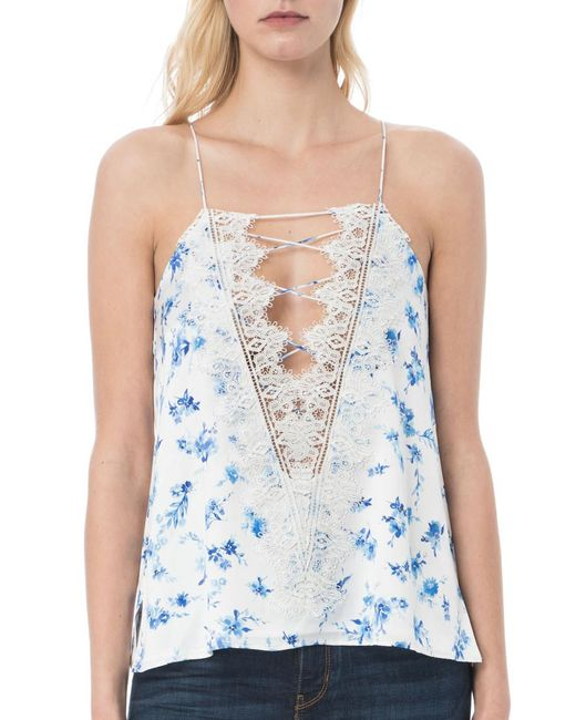 Cami NYC Blue Charlie Charmeuse Camisole