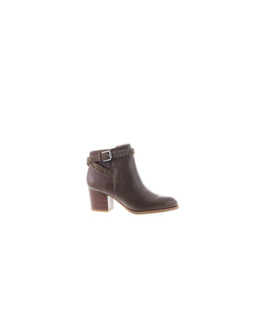 Franco Sarto   Brown Malu Woven Buckle Ankle Boots   Lyst