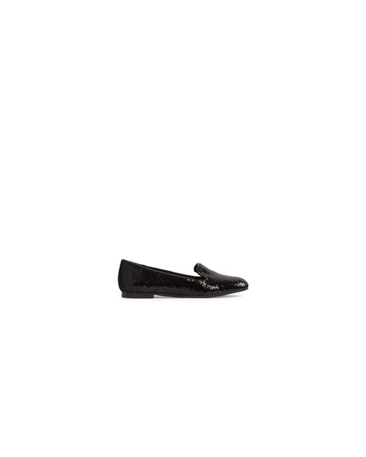 ALDO | Black Sequin Round Toe Loafers | Lyst