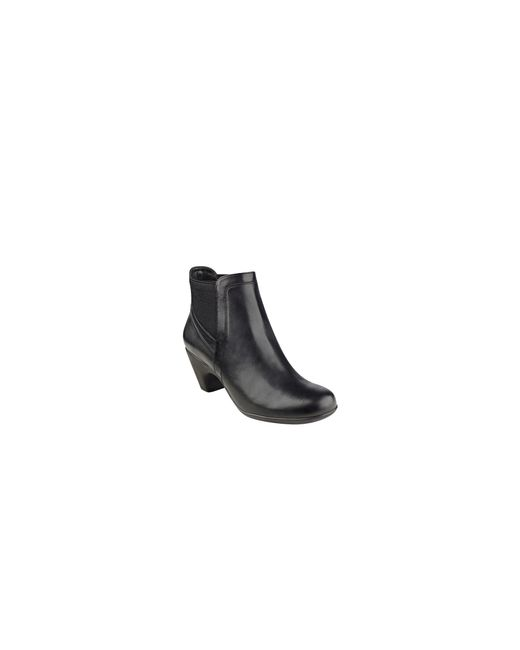 Easy Spirit | Black Parilynn Leather Ankle Booties | Lyst