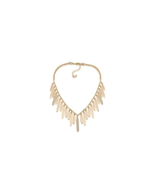 ABS By Allen Schwartz | Metallic Venice Beach Pave Drop Necklace | Lyst