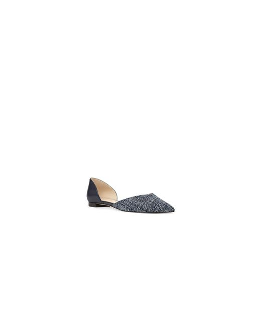 Nine West | Blue Abdemi Printed Dorsey Flats | Lyst