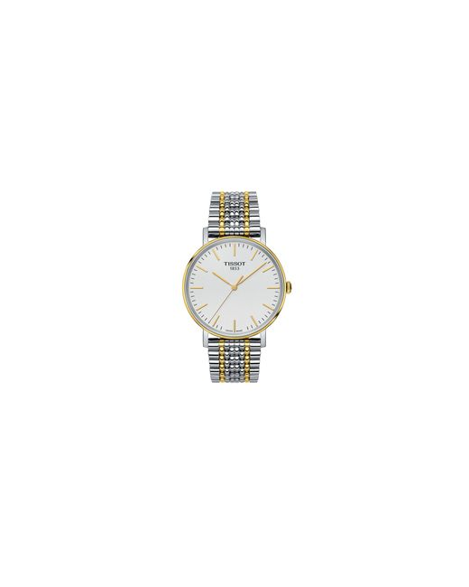 Tissot | Metallic Analog T Classic Two-tone Bracelet Watch for Men | Lyst