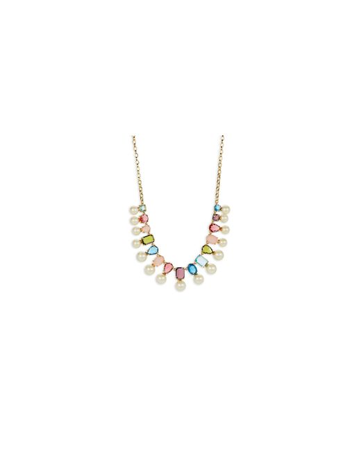 Kate Spade | Metallic A New Hue Goldplated Bead Collar Necklace | Lyst