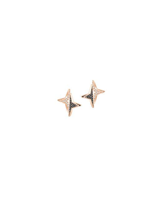 Swarovski | Metallic Halve Star Crystal Stud Earrings | Lyst