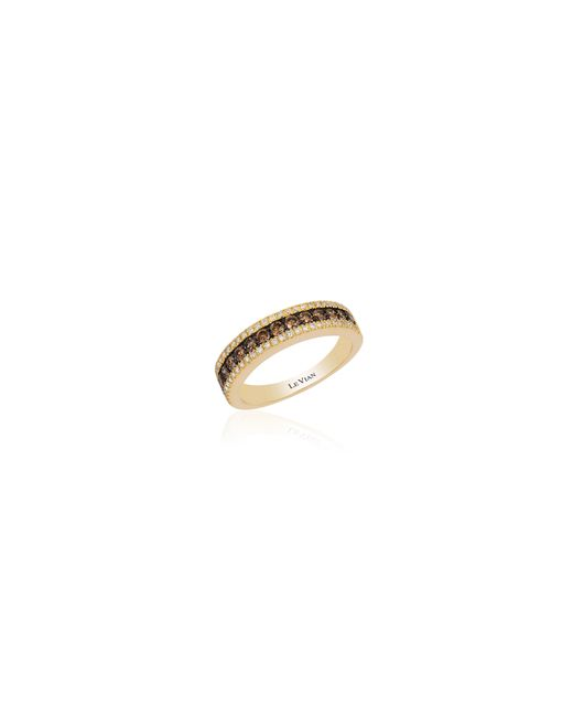 Le Vian | White 14k Honey Gold Chocolatier Diamond Band Ring | Lyst
