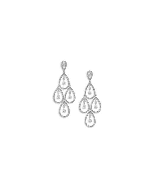 Nadri | Metallic Open Pave Chandelier Earrings | Lyst