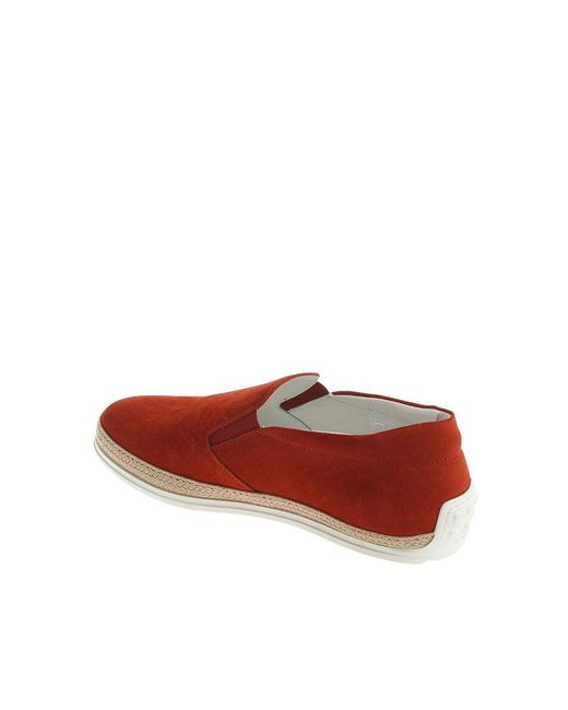 Red logo printed slip on Tod's a83DltL