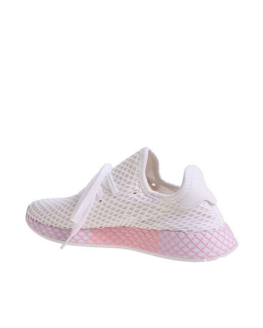 25a6a1fa7f9ce ... Adidas Originals - Deerupt White W Sneakers - Lyst ...