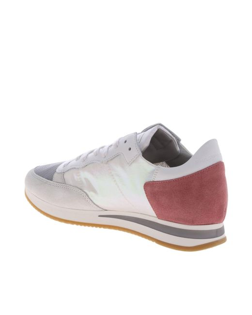 cdb9c5207 ... Philippe Model - Tropez Sneakers In White And Pink - Lyst ...