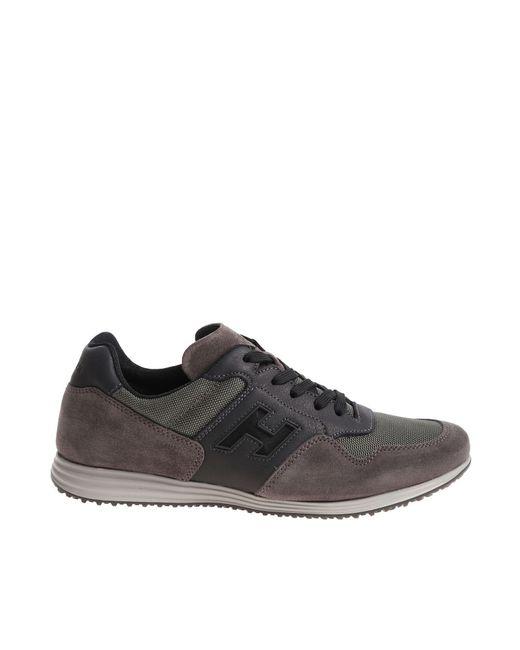 9ba87d12e41 Hogan - Gray H205 Olympia X Grey Sneakers for Men - Lyst ...