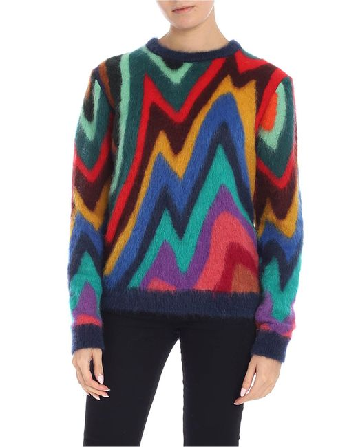 Paul Smith - Multicolor Wool And Mohair Sweater - Lyst