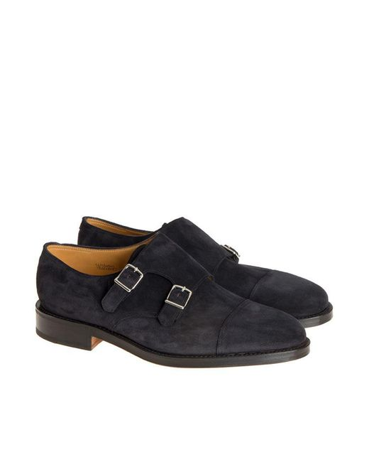 John Lobb - Black Monk Strap Shoes for Men - Lyst