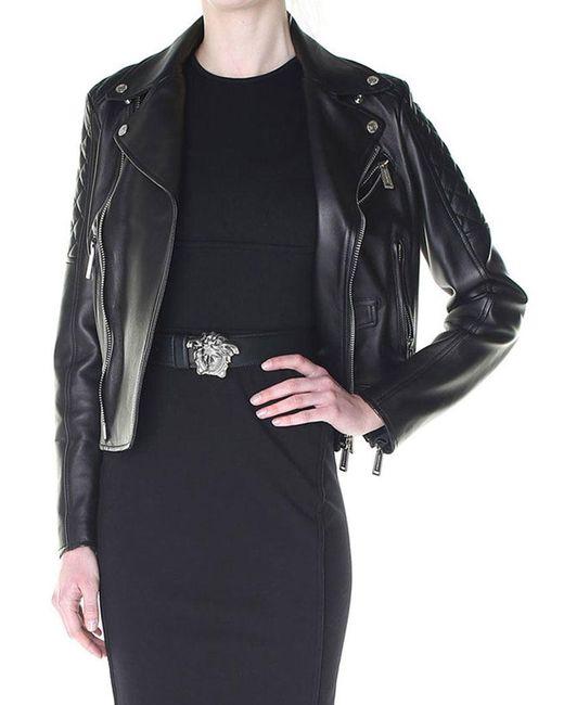 DSquared² - Black Leather Biker Jacket - Lyst