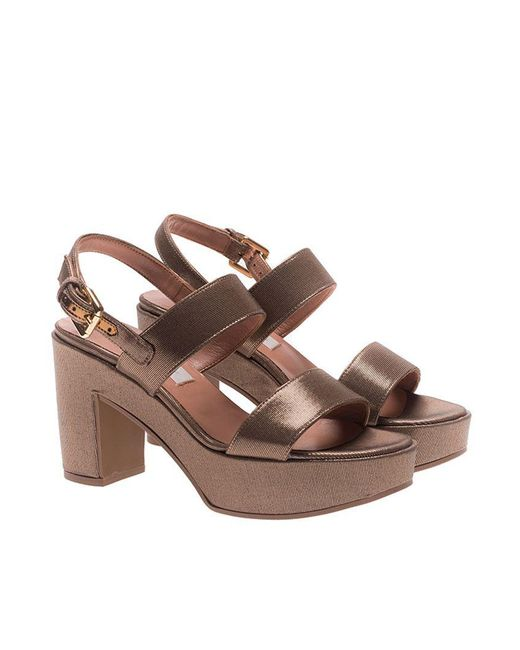 L'Autre Chose - Brown Bronze Colored Platform Sandals - Lyst