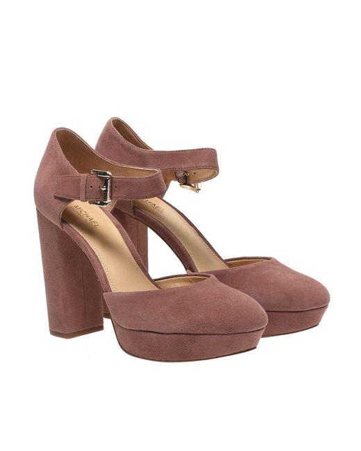 f403365e76477 ... Michael Kors - Pink Sierra Platform Ankle Straps In Dusty Rose - Lyst  ...
